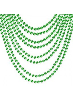 Green Bead Necklaces (Pack of 8)