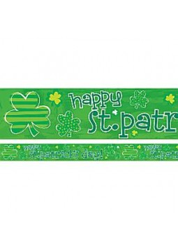 Foil Banner - 2.74m St Patrick's Day Decoration