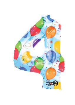 S/SHAPE: 4 Balloons & Streamers