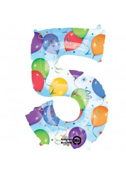 S/SHAPE: 5 Balloons & Streamers