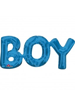 "Phrase "" BOY"" Blue"