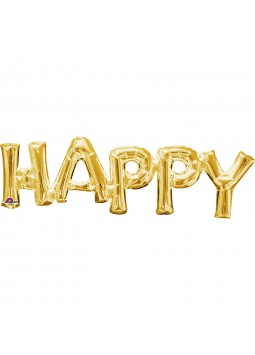 "Phrase "" HAPPY"" Gold"