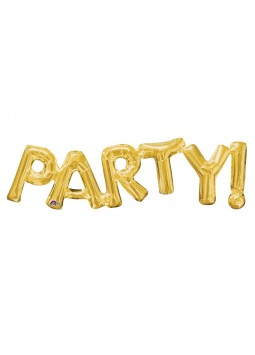 "Phrase "" PARTY"" Gold"