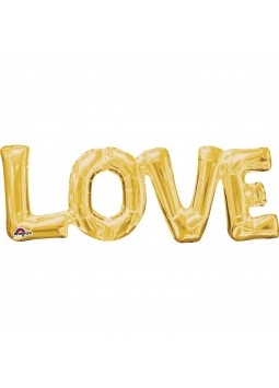Love Gold Foil Phrase Balloon