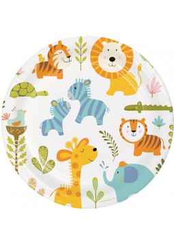 1st Birthday Party Happy Jungle Plates