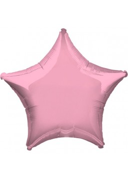 1st Birthday Party Iridescent Pearl Pink Star Balloon
