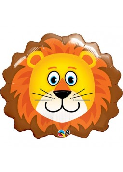 1st Birthday Party Loveable Lion Supershape Balloon