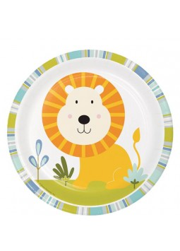 1st Birthday Party Happy Jungle Lion Dessert Plates