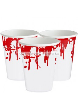 Blood Splattered Plastic Cups - 470ml (25pk)