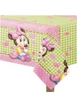 Baby Minnie Plastic Tablecover - 1.2m x 1.8m