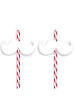 Christmas Moustache Straws