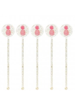 Aloha Summer Glitter Drink Stirrers