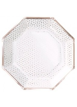 Pick & Mix Rose Gold - Rose Gold Spotty Paper Plates
