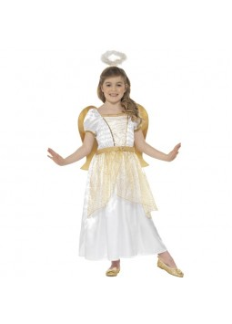 Angel Princess Costume, White & Gold