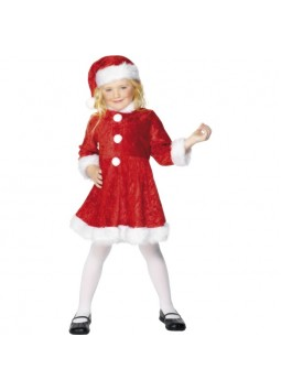 Mini Miss Santa Costume, Red