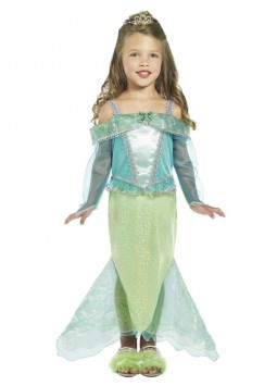 Mermaid Princess Costume, Green