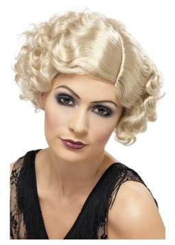 20s Flirty Flapper Wig, Blonde