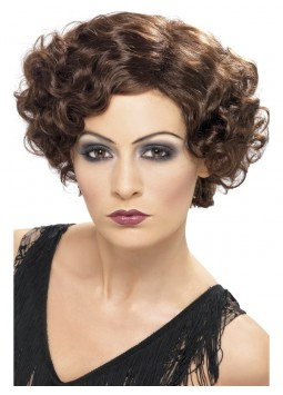 20s Flirty Flapper Wig, Brown