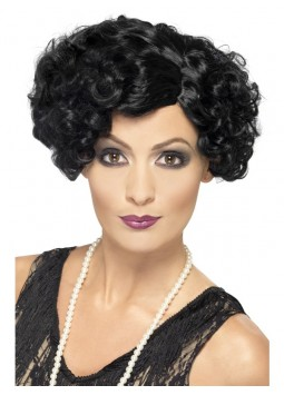 20s Flirty Flapper Wig, Black