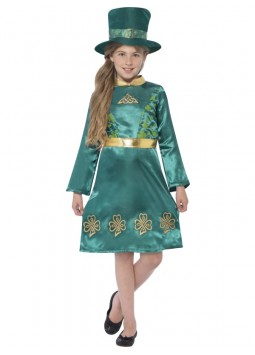 Leprechaun Girl Costume, Green
