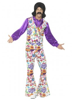 60s Groovy Hippie Costume, Multi-Coloured