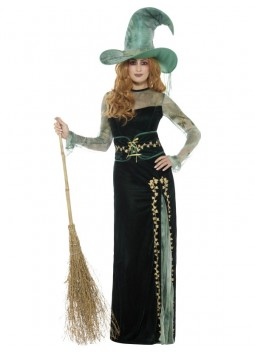 Deluxe Emerald Witch Costume, Green