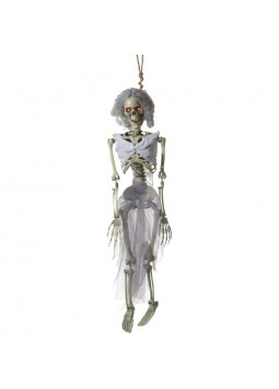 Animated Hanging Bride Skeleton Decoration, Natura