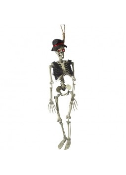 Animated Hanging Groom Skeleton Decoration, Natura
