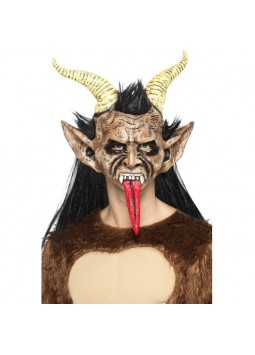Beast / Krampus Demon Mask, Brown