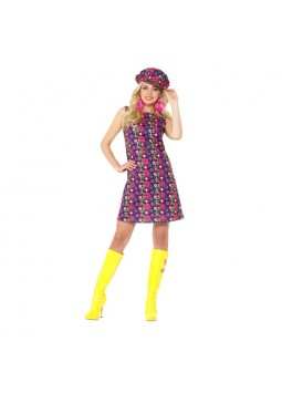 1960s Psychedelic CND Costume, Multi-Coloured