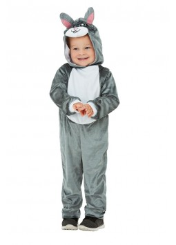 Toddler Bunny Costume, Grey