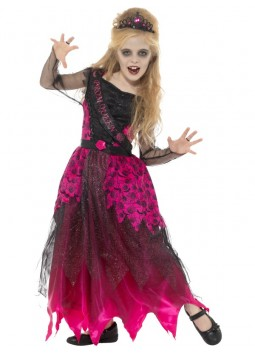 Deluxe Gothic Prom Queen Costume, Pink & Black