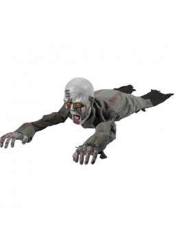 Animated Crawling Zombie Prop, with Sound, Grey