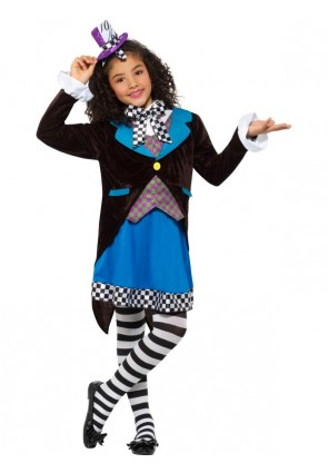 Little Miss Hatter Costume, with Dress
