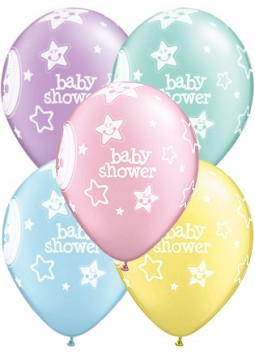"Baby Shower Moon & Stars Balloons - 11"" Latex (Pack of 25)"