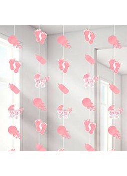 Baby Girl String Decoration (Pack of 6)
