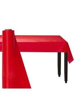 Red Plastic Tablecover Roll (30m)