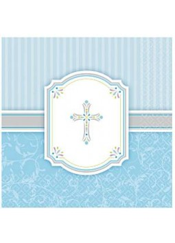Communion Blessings Blue Paper Luncheon Napkins