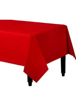 Red Plastic Tablecover (1.4m x 2.8m)