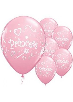 "Princess Pink Balloons - 11"" Latex (6)"