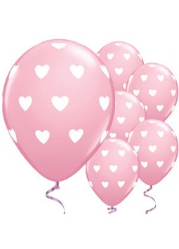 "Balloons: Pink Heart 11"" Latex"