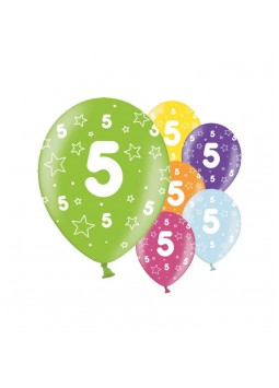 5th Birthday Balloons - 11'' Latex (Pack of 25)
