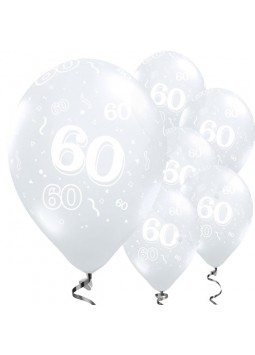 60th Birthday Diamond Clear Balloons - 11'' Latex (Pack of 50)