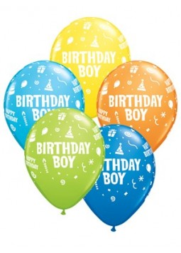 "Birthday Boy Balloons Assortment - 11"" Latex (25)"