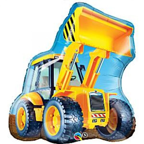 "Birthday Construction Loader Supershape Balloon - 32"" Foil"