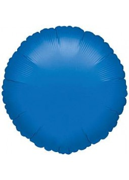 Blue Round Balloon - 18'' Foil