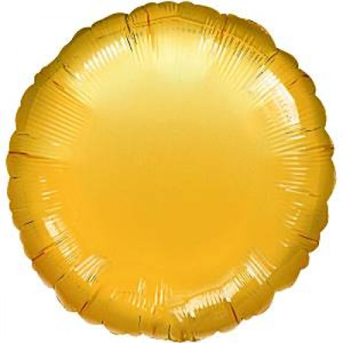 Gold Round Balloon - 18'' Foil