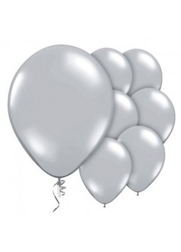 "Silver Prolite Valved Balloons - 9"" Latex (Pack of 10)"
