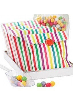 Rainbow Stripe Paper Bags (Pack of 10)