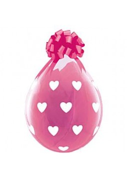 "Balloons: Clear Valentines ""Big Hearts"" Stuffing Balloons 18"" Latex"